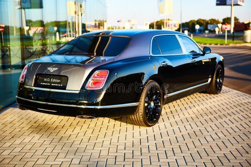 Κίεβο, Ουκρανία - 02 Οκτωβρίου 2019: Αυτοκίνητο Bentley Mulsanne στην αντιπροσωπεία αυτοκινήτων στο Κίεβο στοκ φωτογραφίες