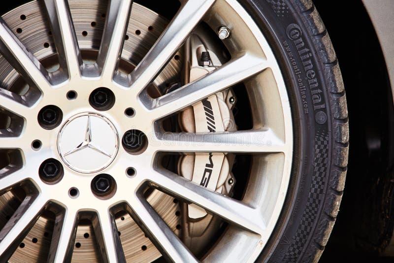 Κίεβο, Ουκρανία - 4 Οκτωβρίου 2016: Benz της Mercedes εμπειρία αστεριών Η ενδιαφέρουσα σειρά τεστ δοκιμής στοκ φωτογραφίες