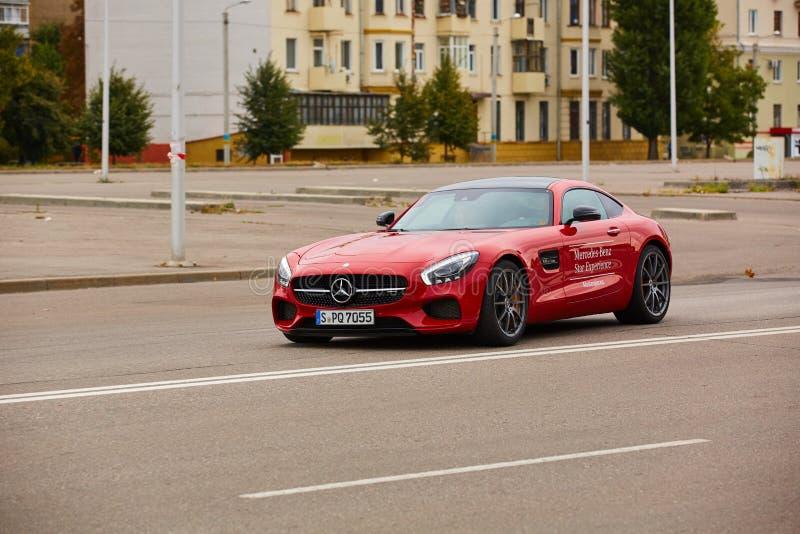 Κίεβο, Ουκρανία - 4 Οκτωβρίου 2016: Benz της Mercedes εμπειρία αστεριών Η ενδιαφέρουσα σειρά τεστ δοκιμής στοκ εικόνα