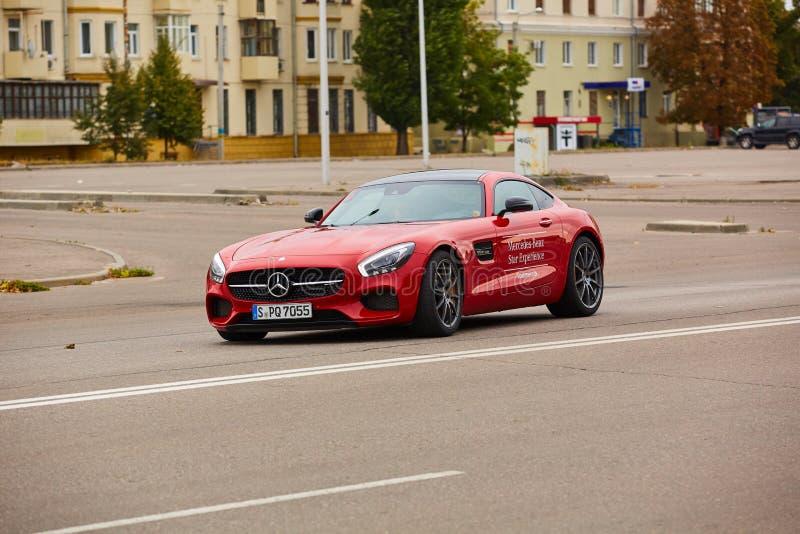 Κίεβο, Ουκρανία - 4 Οκτωβρίου 2016: Benz της Mercedes εμπειρία αστεριών Η ενδιαφέρουσα σειρά τεστ δοκιμής στοκ εικόνες
