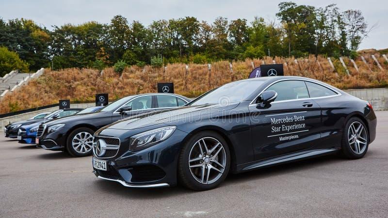 Κίεβο, Ουκρανία - 4 Οκτωβρίου 2016: Benz της Mercedes εμπειρία αστεριών Η ενδιαφέρουσα σειρά τεστ δοκιμής στοκ φωτογραφίες με δικαίωμα ελεύθερης χρήσης