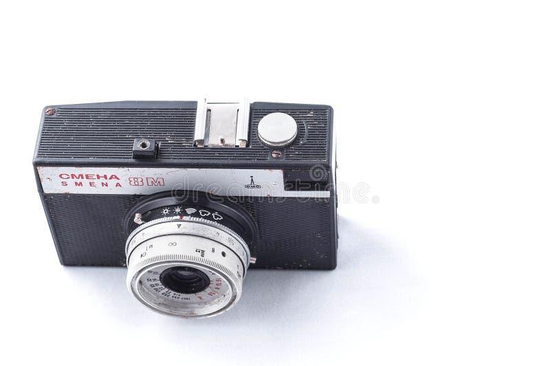 Κίεβο, Ουκρανία - 28 Φεβρουαρίου 2019: εκλεκτής ποιότητας κάμερα smena 8 μ η εκλεκτής ποιότητας με το φακό lomo στο άσπρο υπόβαθρ στοκ εικόνα