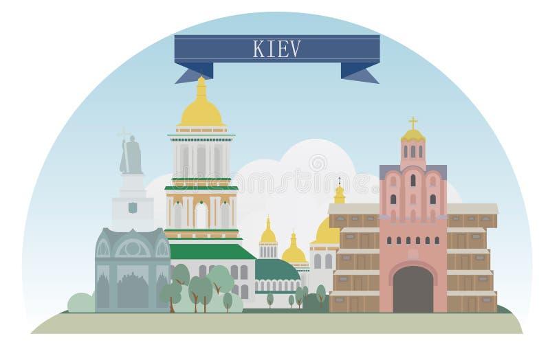 Κίεβο, Ουκρανία διανυσματική απεικόνιση