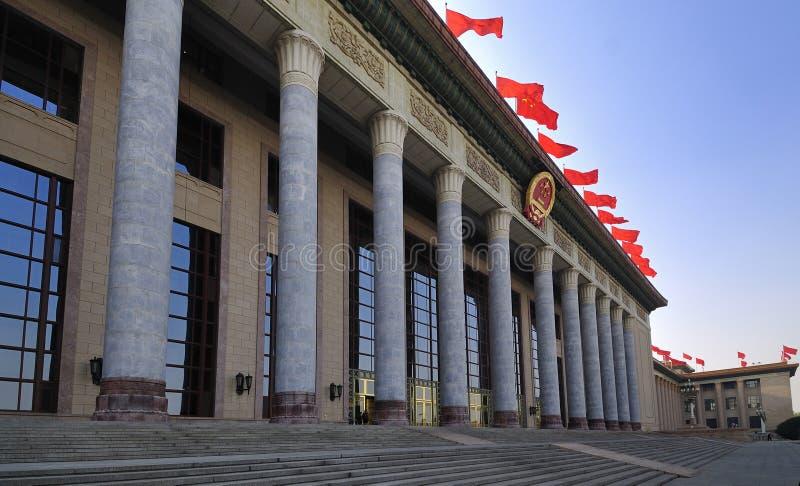 Κίνα Πεκίνο η μεγάλη αίθουσα των ανθρώπων στοκ εικόνα