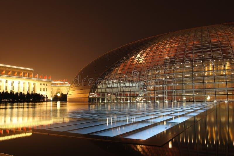 Κίνα το μεγάλο εθνικό s theate στοκ εικόνα