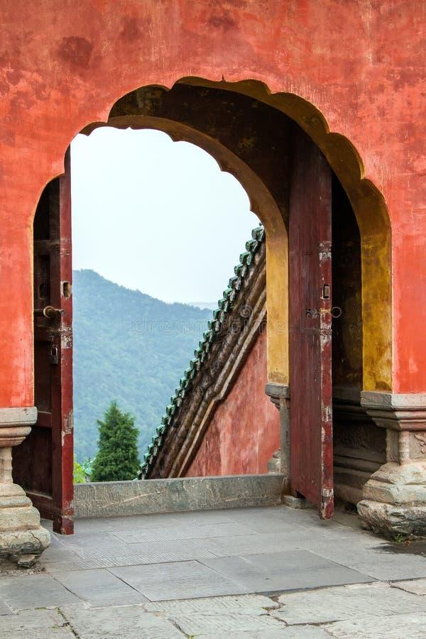 Κίνα, το μοναστήρι Wudang, ναός Fu Zhen στοκ εικόνα με δικαίωμα ελεύθερης χρήσης