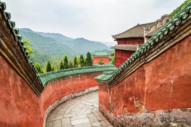 Κίνα, το μοναστήρι Wudang, ναός Fu Zhen στοκ φωτογραφίες με δικαίωμα ελεύθερης χρήσης