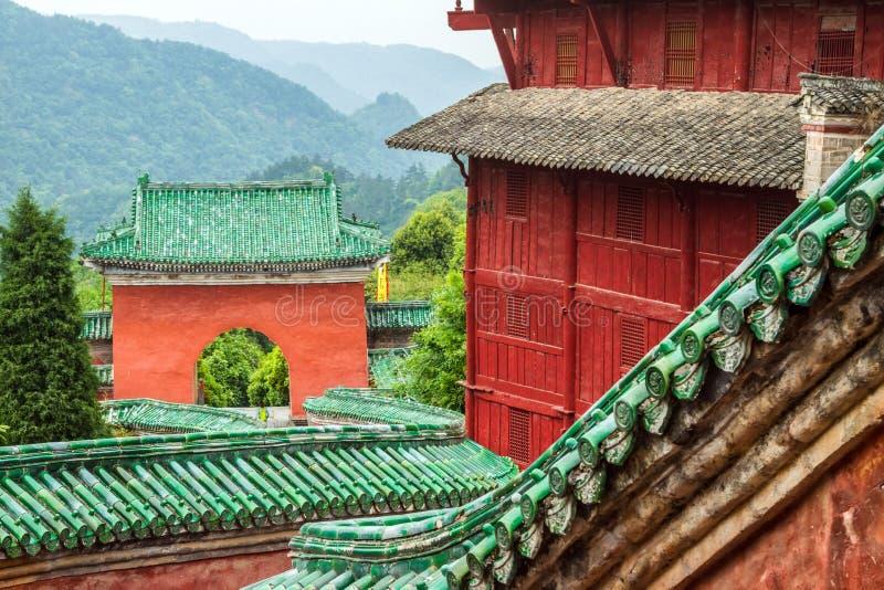 Κίνα, το μοναστήρι Wudang, ναός Fu Zhen στοκ εικόνα