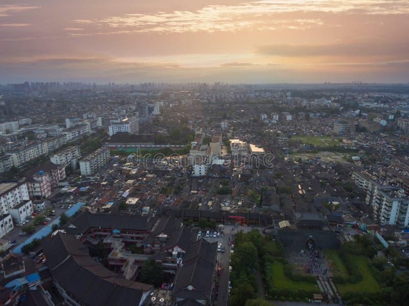 Κίνα Yangzhou, ο ορίζοντας της πόλης στοκ εικόνα με δικαίωμα ελεύθερης χρήσης