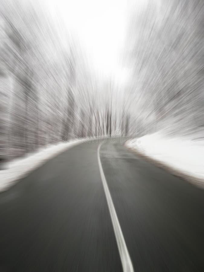 Κίνδυνος για τους οδηγούς κατά τη διάρκεια της χειμερινής εννοιολογικής εικόνας στοκ εικόνες