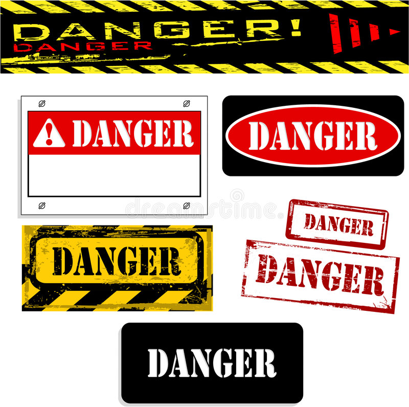 κίνδυνος εμβλημάτων απεικόνιση αποθεμάτων