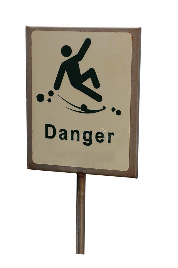 Κίνδυνος του μειωμένου σημαδιού κινδύνου που απομονώνεται στοκ εικόνες
