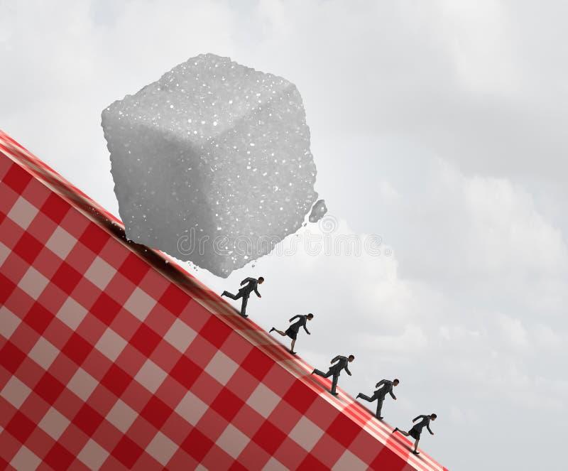Κίνδυνος υγείας ζάχαρης ελεύθερη απεικόνιση δικαιώματος