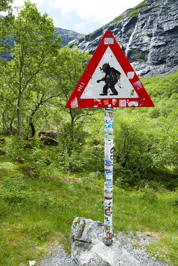 Κίνδυνος! Trolls! στοκ φωτογραφία με δικαίωμα ελεύθερης χρήσης