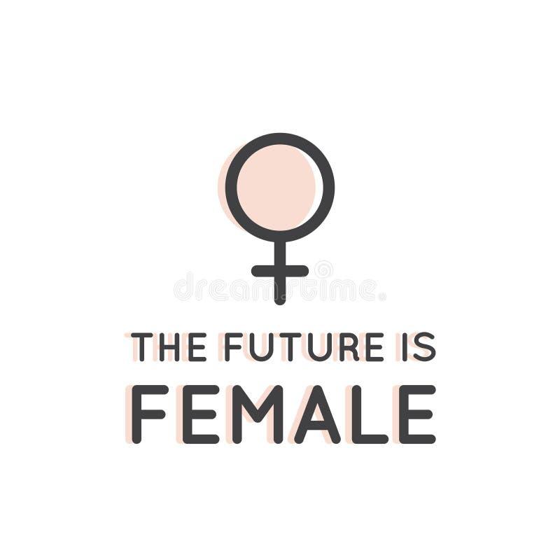 Κίνημα φεμινισμού, κοινωνία LGBT, δύναμη κοριτσιών, θηλυκή μελλοντική διαμαρτυρία διανυσματική απεικόνιση