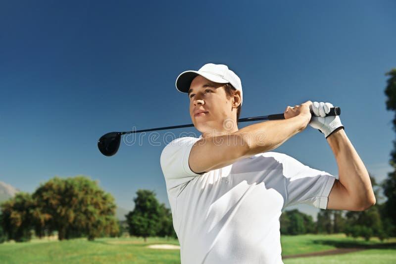 Κίνηση γκολφ στοκ εικόνες