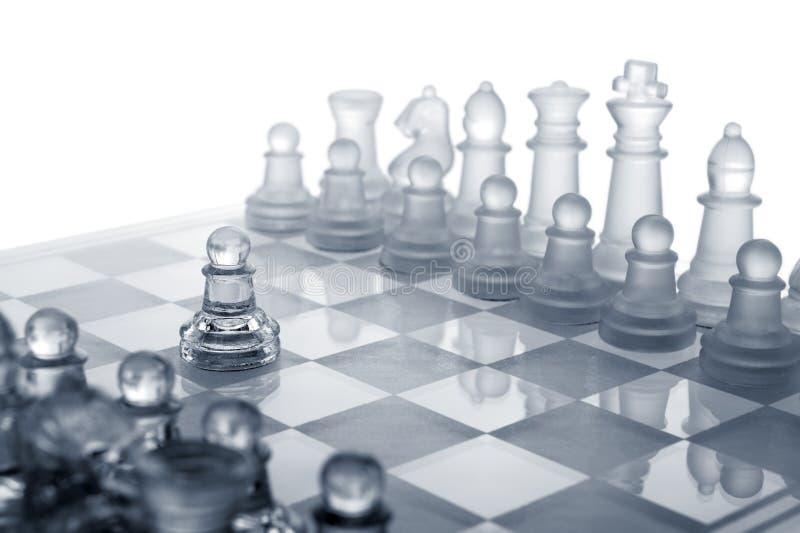 κίνηση γυαλιού σκακιού π&r στοκ φωτογραφία