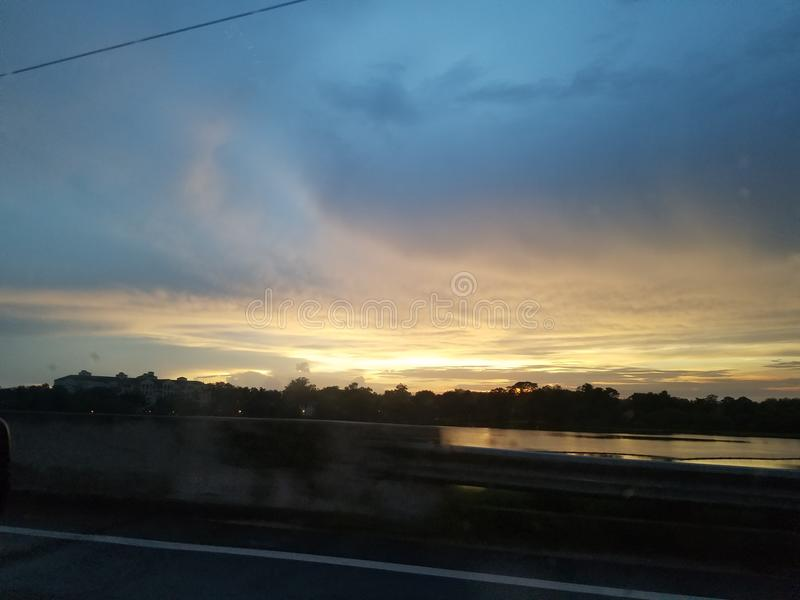 Κίνηση ηλιοβασιλέματος στοκ εικόνες με δικαίωμα ελεύθερης χρήσης