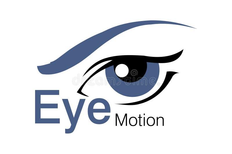 κίνηση λογότυπων ματιών διανυσματική απεικόνιση