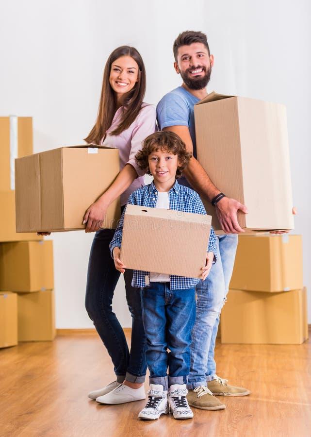 κίνηση οικογενειακών κατοικιών στοκ φωτογραφία