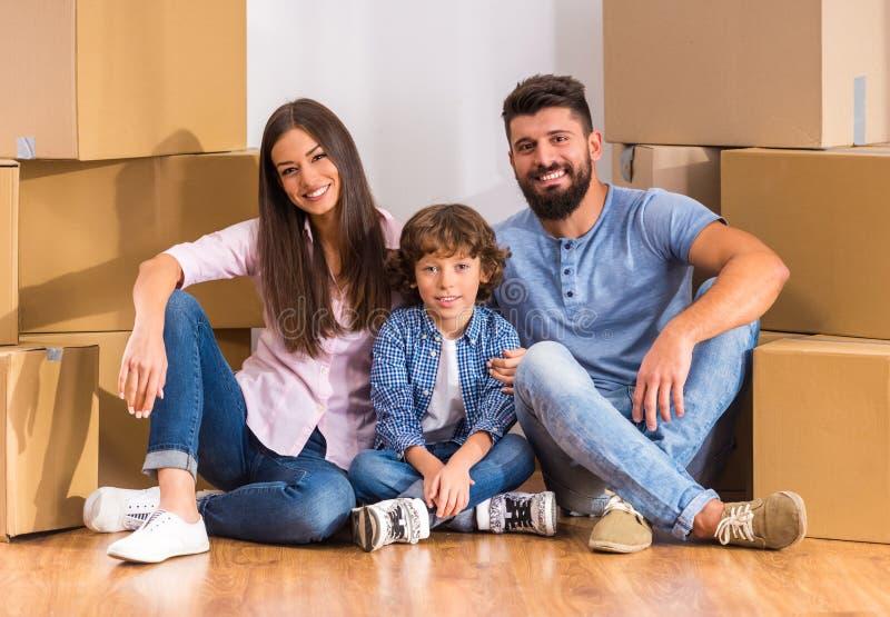 κίνηση οικογενειακών κατοικιών στοκ εικόνες