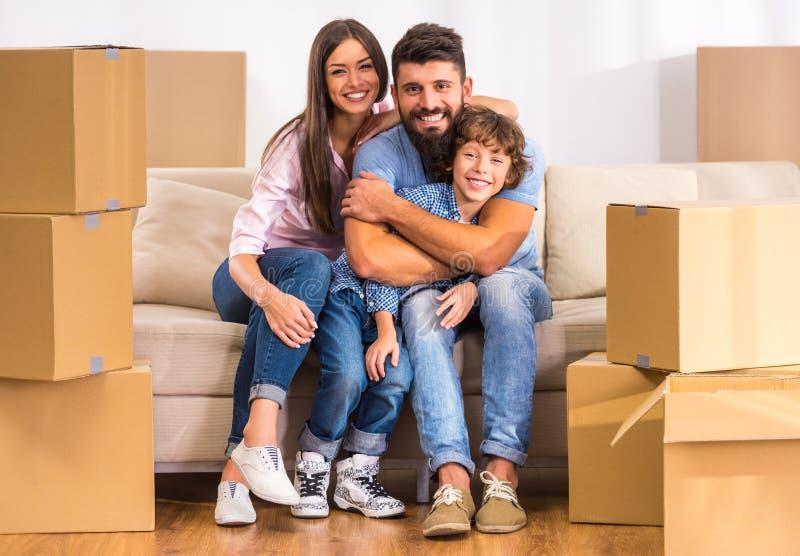 κίνηση οικογενειακών κατοικιών στοκ εικόνες με δικαίωμα ελεύθερης χρήσης
