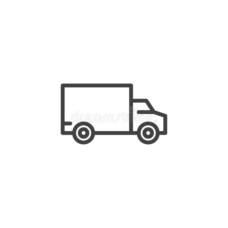 Κίνηση, στέλνοντας εικονίδιο γραμμών φορτηγών ελεύθερη απεικόνιση δικαιώματος
