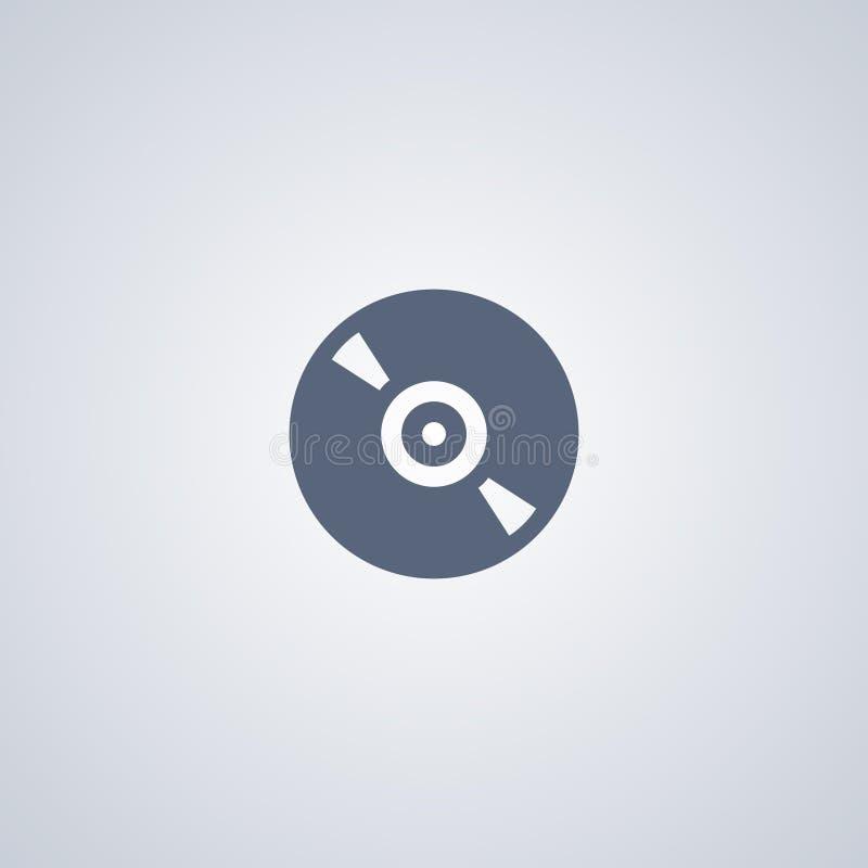 Κίνηση, CD, διανυσματικό καλύτερο επίπεδο εικονίδιο ελεύθερη απεικόνιση δικαιώματος