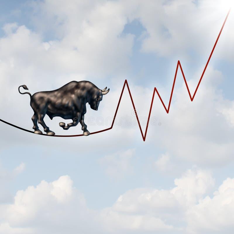 Κίνδυνος αγοράς του Bull ελεύθερη απεικόνιση δικαιώματος