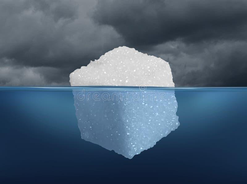 Κίνδυνος ζάχαρης ελεύθερη απεικόνιση δικαιώματος
