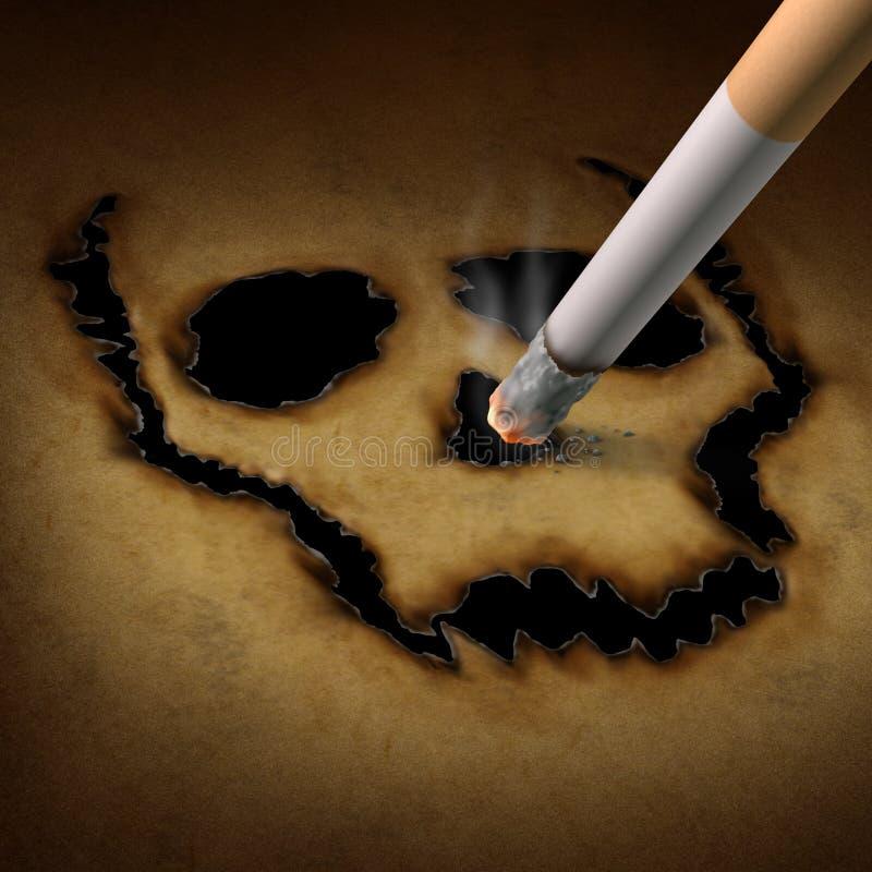 Κίνδυνος καπνίσματος διανυσματική απεικόνιση