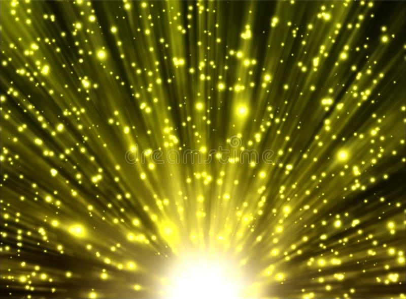 Κίτρινα ακτίνες και αστέρια διανυσματική απεικόνιση