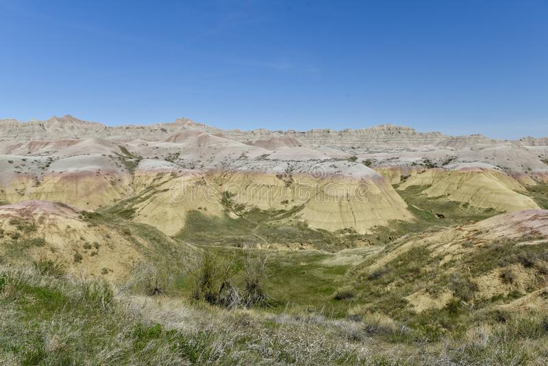 Κίτρινα αναχώματα του Badlands στοκ φωτογραφίες με δικαίωμα ελεύθερης χρήσης