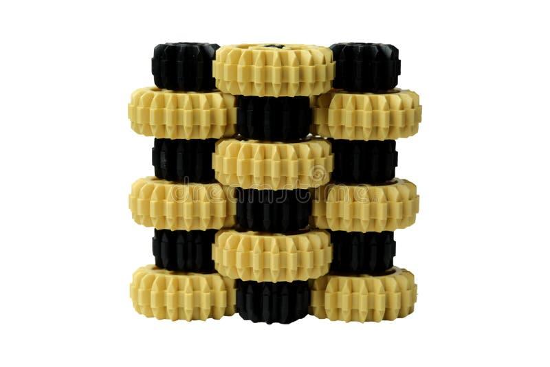Κίτρινα και μαύρα πλαστικά εργαλεία στοκ εικόνες