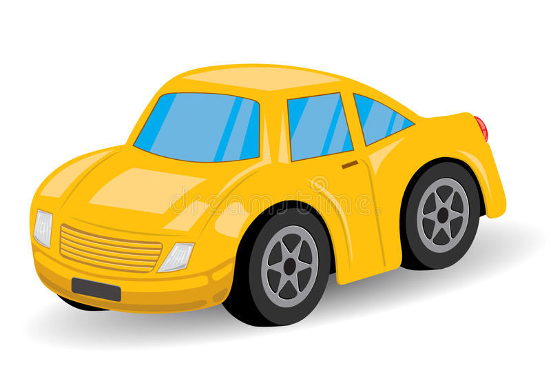 Κίτρινα κινούμενα σχέδια αθλητικών αυτοκινήτων - διάνυσμα ελεύθερη απεικόνιση δικαιώματος