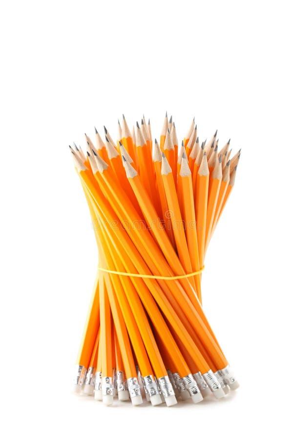 Κίτρινα μολύβια στοκ εικόνες με δικαίωμα ελεύθερης χρήσης