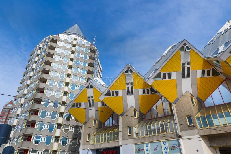 Κίτρινα σπίτια κύβων, Ρότερνταμ, Ολλανδία στοκ φωτογραφίες με δικαίωμα ελεύθερης χρήσης
