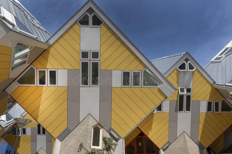 Κίτρινα σπίτια κύβων, Ρότερνταμ, Ολλανδία στοκ εικόνες