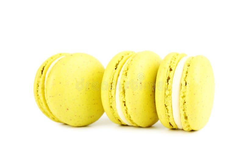 Κίτρινα macarons στοκ φωτογραφία με δικαίωμα ελεύθερης χρήσης
