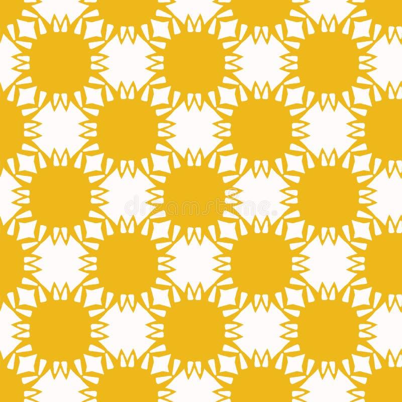 Κίτρινες αποκόπτως λουλούδι μορφές ήλιων Διανυσματικό άνευ ραφής υπόβαθρο σχεδίων Συρμένη χέρι matisse γραφική απεικόνιση κολάζ ύ ελεύθερη απεικόνιση δικαιώματος