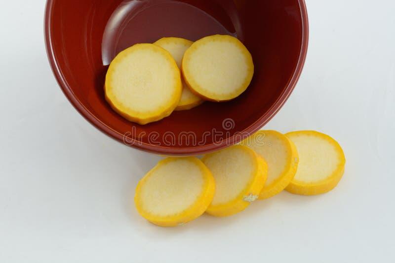 Κίτρινες φέτες κολοκύνθης στοκ εικόνα με δικαίωμα ελεύθερης χρήσης