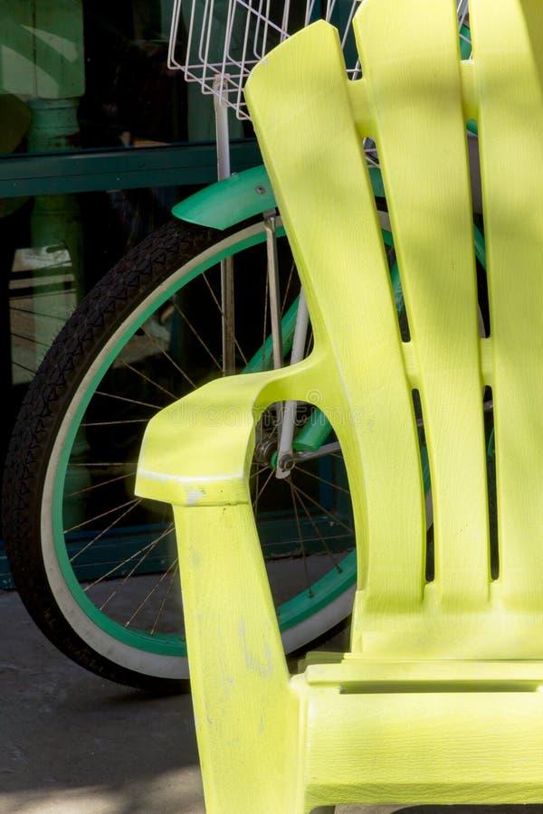 Κίτρινη έδρα παραλιών στοκ φωτογραφία με δικαίωμα ελεύθερης χρήσης