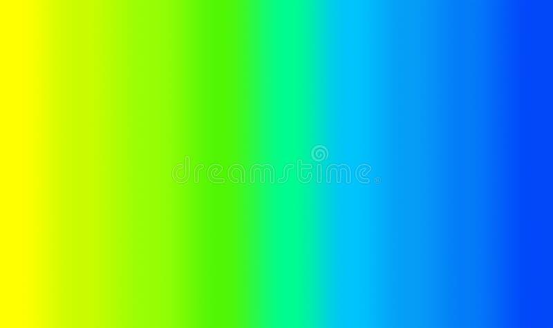 Κίτρινη έως πράσινη έως μπλε κλίση απεικόνιση αποθεμάτων