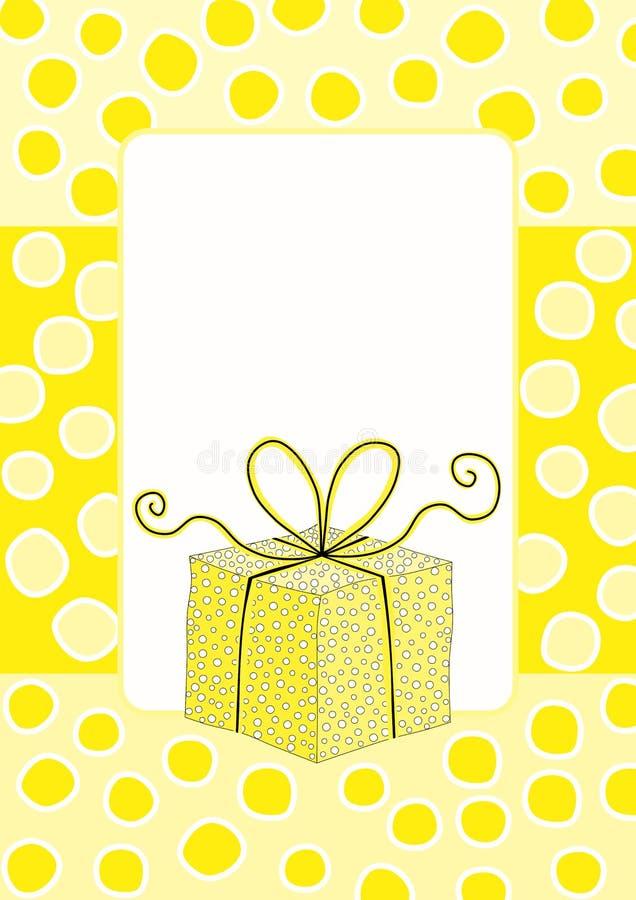 Κίτρινη αιφνιδιαστική ετικέττα κιβωτίων δώρων ελεύθερη απεικόνιση δικαιώματος