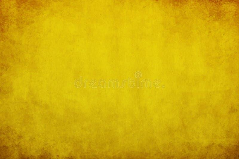 Κίτρινη ανασκόπηση grunge απεικόνιση αποθεμάτων