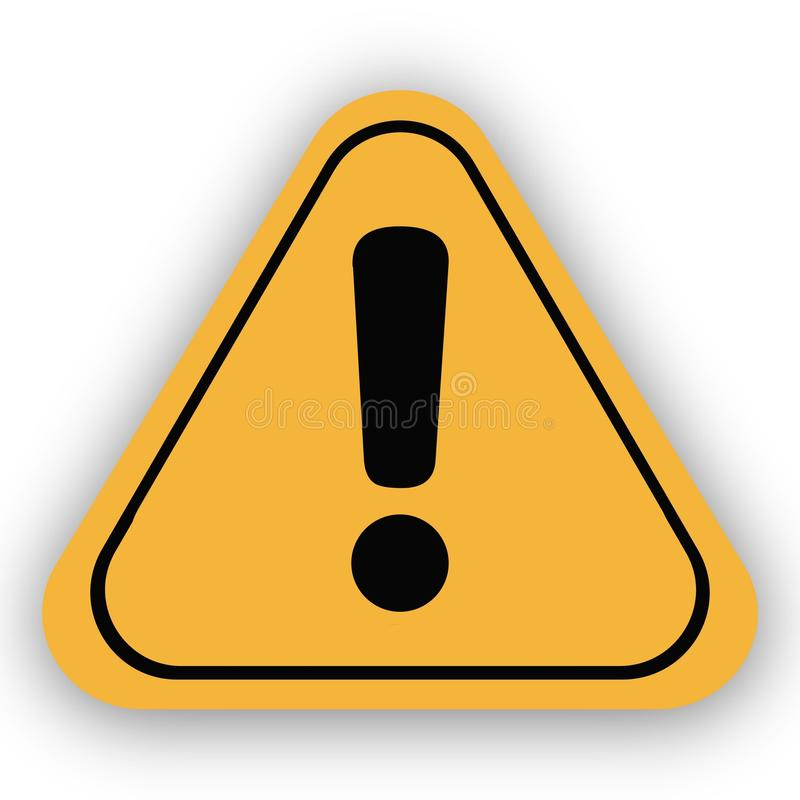 κίτρινη αφίσα έννοιας προειδοποιητικών σημαδιών διανυσματική απεικόνιση