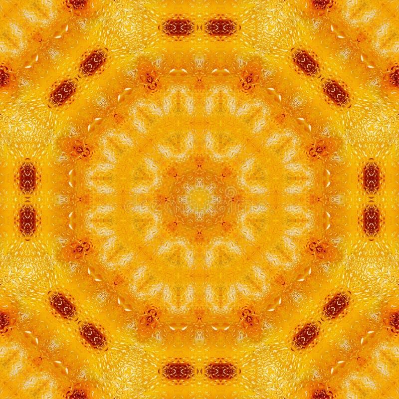 Κίτρινη γεωμετρική συμμετρία καλειδοσκόπιων σχεδίων γραφικός διανυσματική απεικόνιση