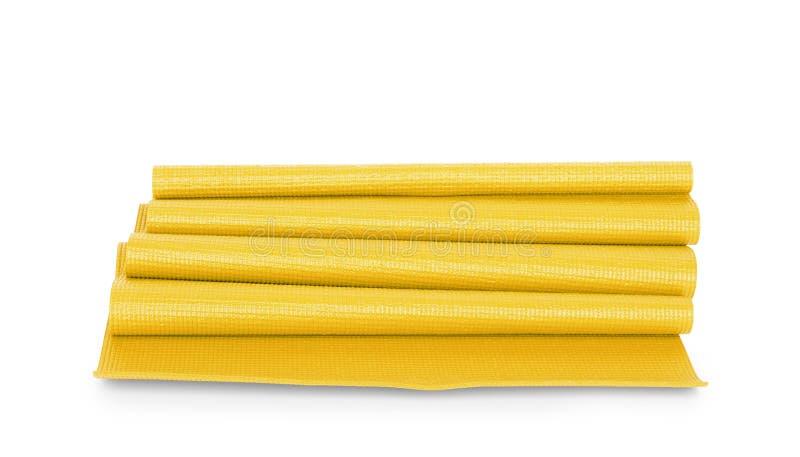 Κίτρινη γιόγκα χρώματος ματ στο υπόβαθρο στοκ φωτογραφία με δικαίωμα ελεύθερης χρήσης