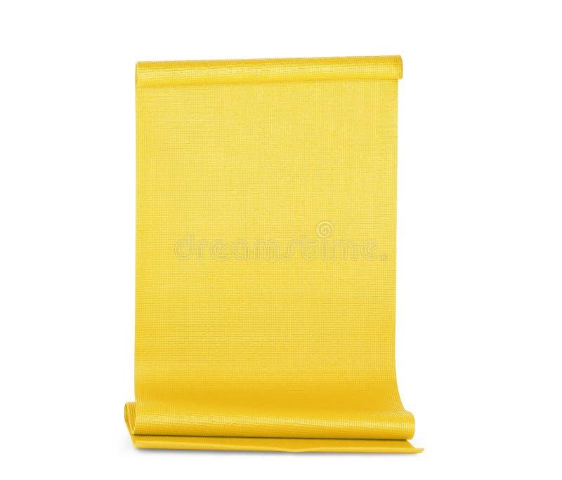 Κίτρινη γιόγκα χρώματος ματ στο υπόβαθρο στοκ φωτογραφίες με δικαίωμα ελεύθερης χρήσης