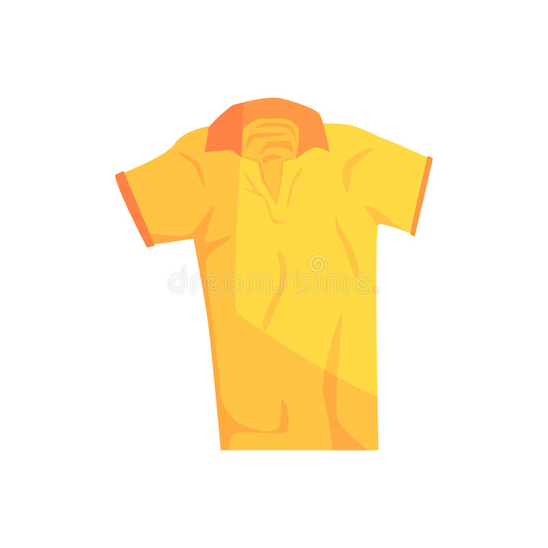 Κίτρινη διανυσματική απεικόνιση πουκάμισων αθλητικού πόλο διανυσματική απεικόνιση
